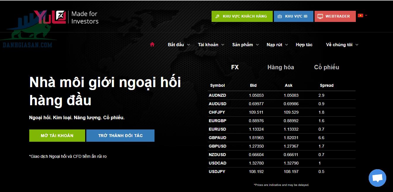 Sàn giao dịch Forex YuloFX