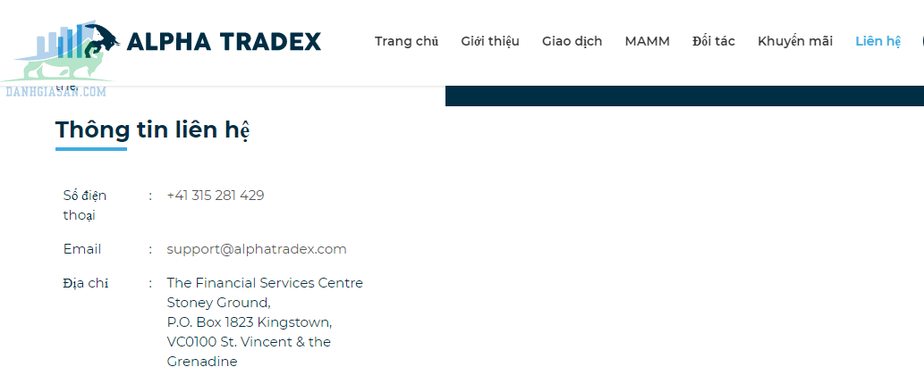 Chăm sóc hàng sàn giao dịch Forex Alpha Tradex