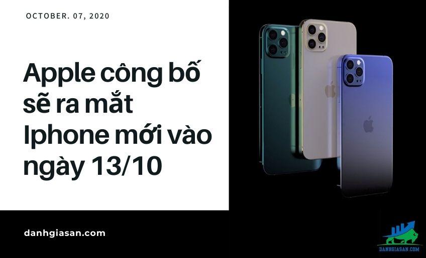 Apple công bố sẽ ra mắt Iphone mới vào ngày 13/10