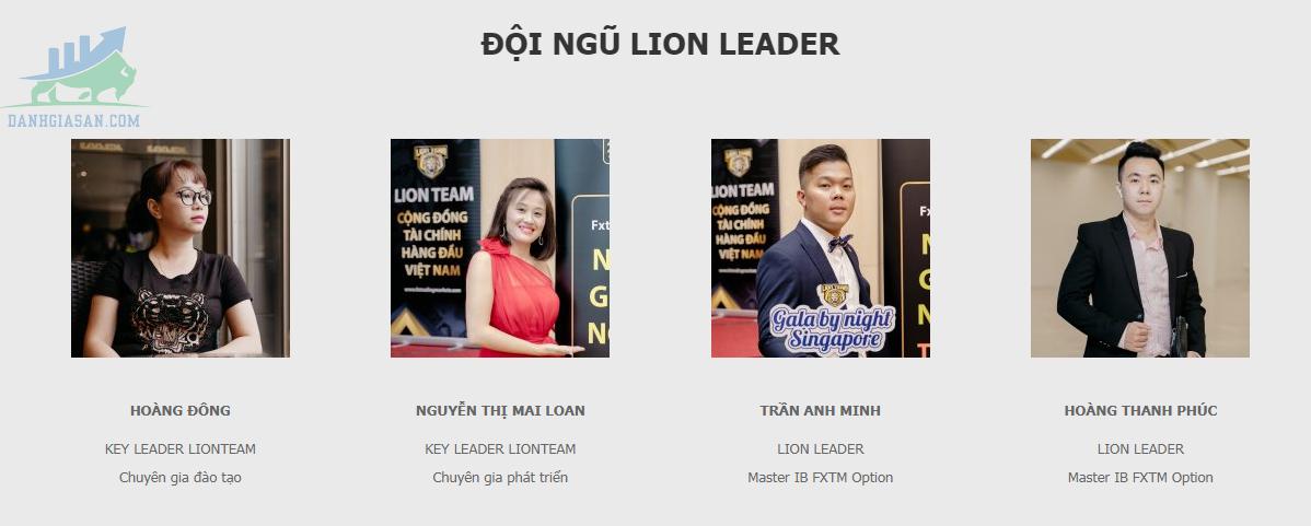 Đội ngũ lãnh đạo của Lion Group