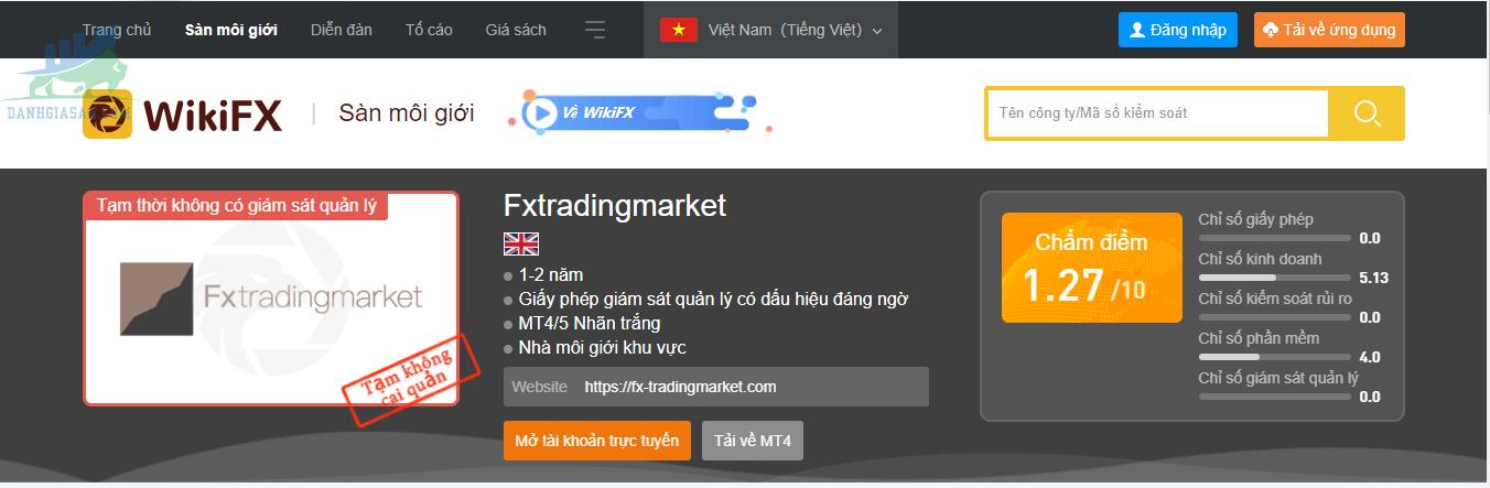 Tổng quan về sàn giao dịch Fx Trading Market