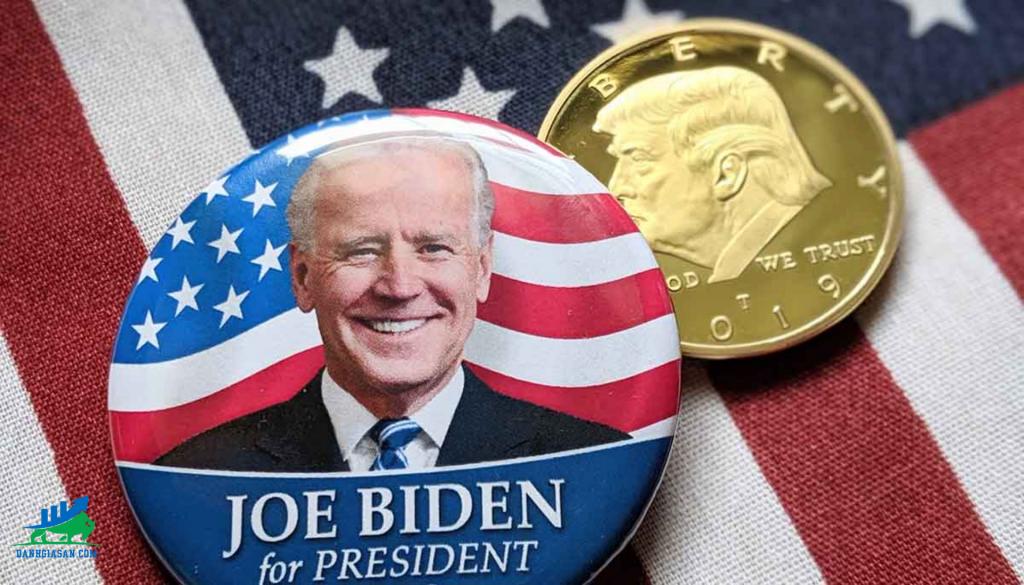 giá vàng bị tác động bởi bầu cử tổng thống Mỹ 2020