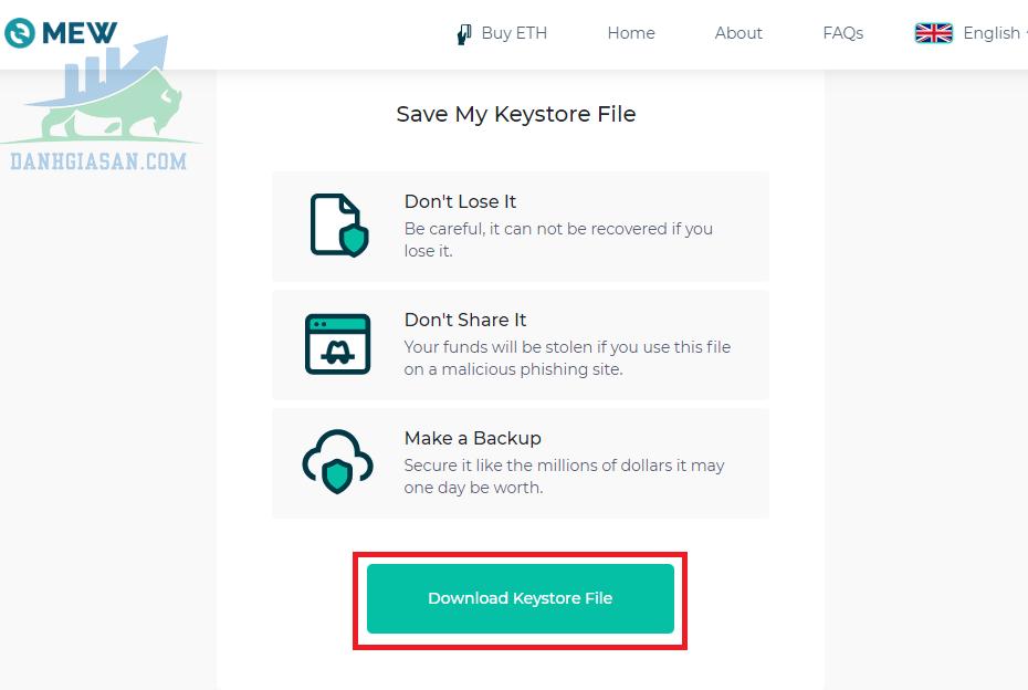 Cách để tạo một ví MyEtherWallet