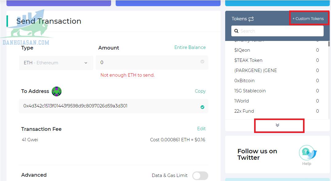 Cách thêm mã Token chạy ERC-20 trên ví MyEtherWallet