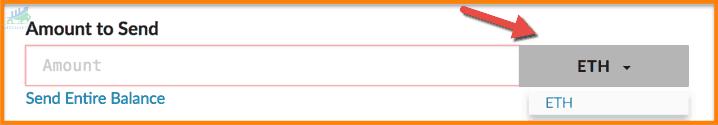 ựa chọn đúng mã thông báo từ menu cũng như số lượng Token