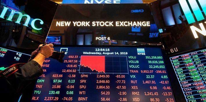 Chứng khoán Mỹ sụt giảm