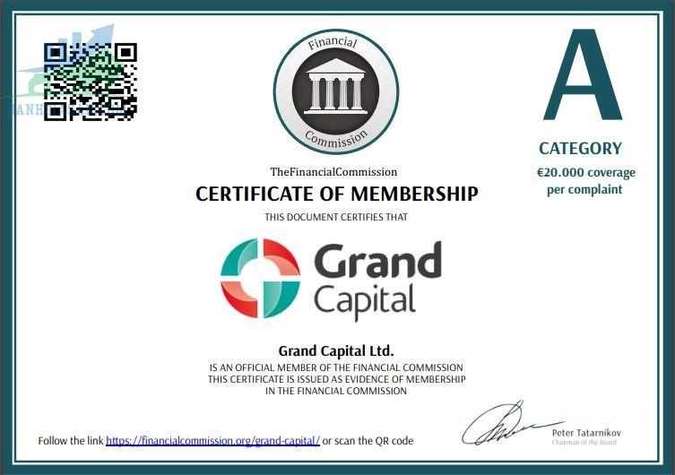 Giấy phép hoạt động của sàn giao dịch Forex Grand Capital