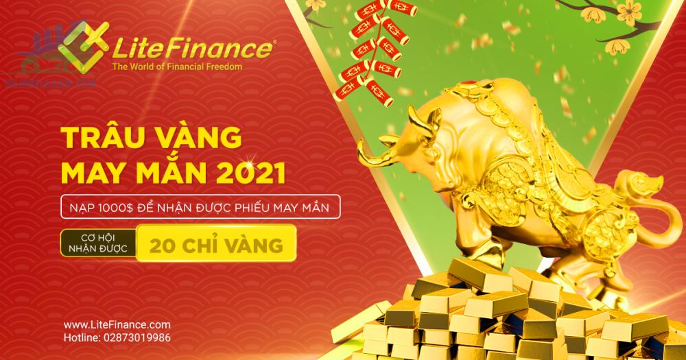 Trâu Vàng May Mắn 2021 - LiteFinance tặng vàng cho nhà giao dịch!