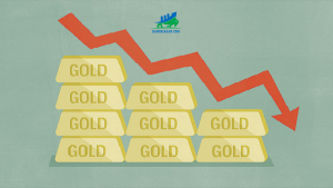 giá vàng thế giới giảm 5 USD
