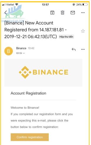 Xác nhận qua email