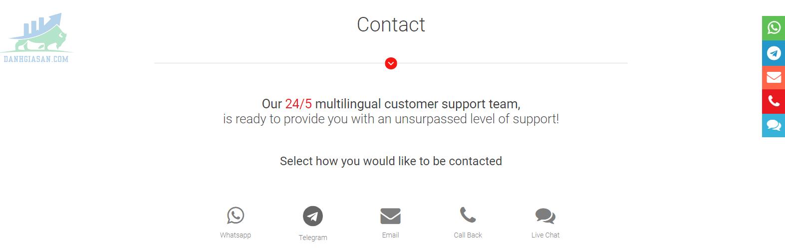 Chính sách hỗ trợ khách hàng của sàn giao dịch BDSwiss