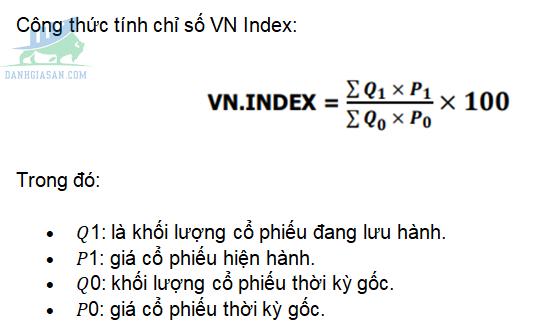Công thức tính chỉ số VN Index