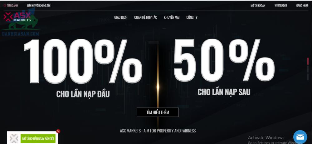 Tổng quan sàn ASX Markets