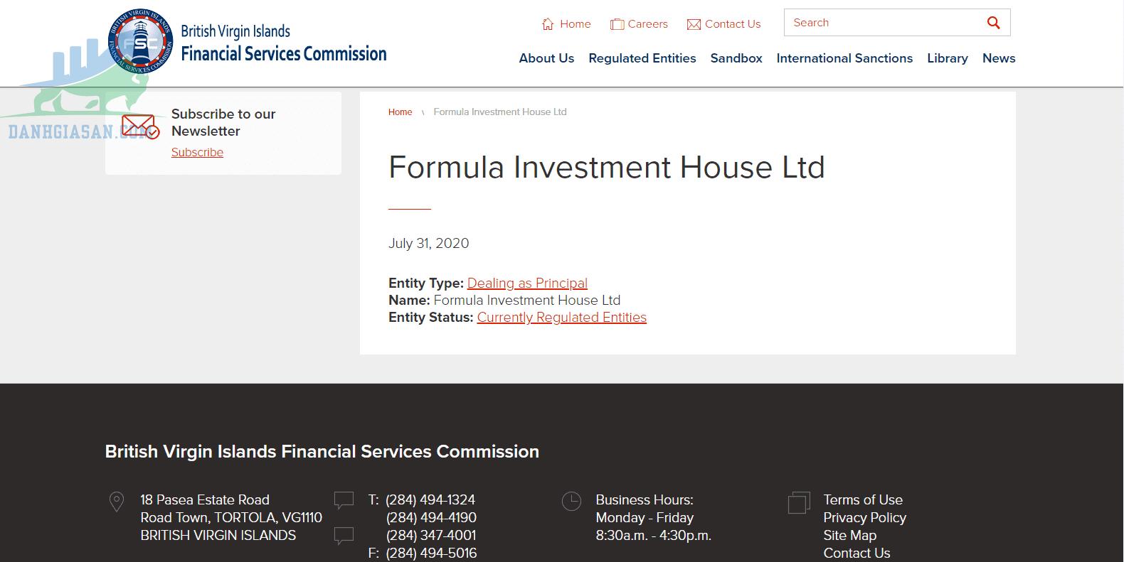 Trang web của BVIFSC xác nhận trạng thái hoạt động kể từ tháng 7 năm 2020.