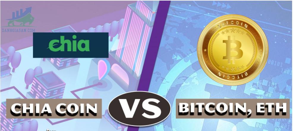 So sánh đồng coin xanh XCH và Bitcoin với Ethereum