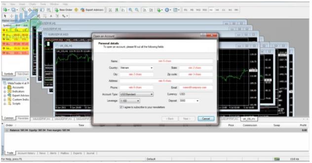 Hướng dẫn chơi Forex tài khoản Demo trên MT4