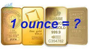 1 Ounce vàng bằng bao nhiêu lượng vàng, chỉ vàng?